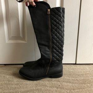 Steve Madden Northside Black Leather Boots